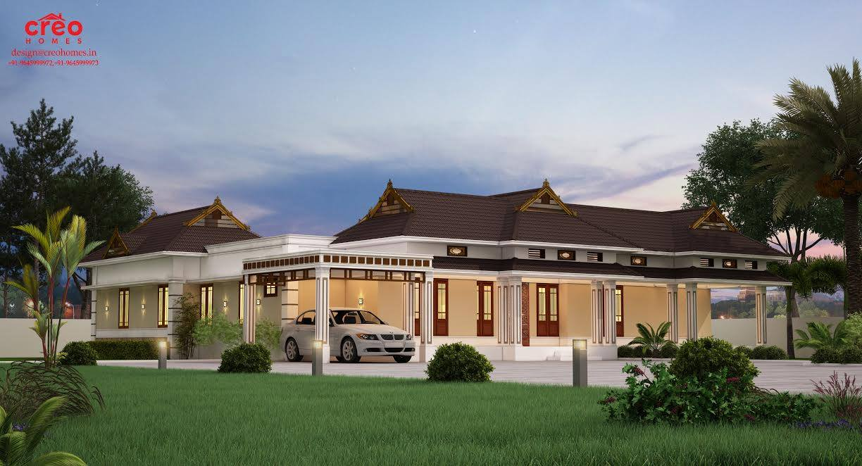 Photo of 2687 Square Feet 4 Attached Bedroom Single Floor Home Design