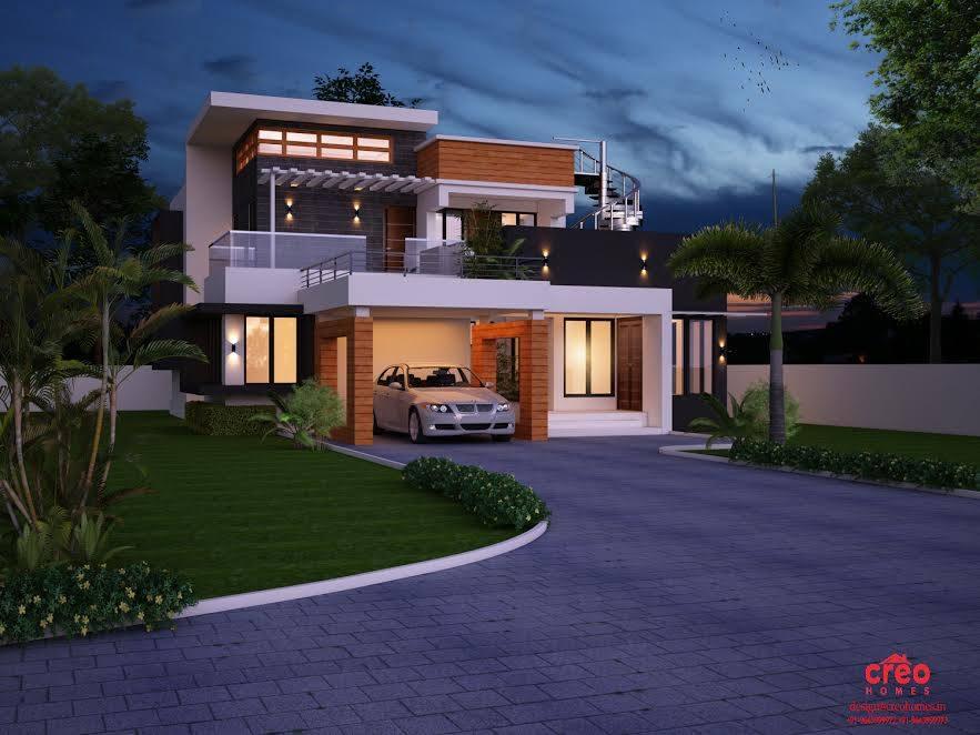2517 Square Feet 4 Bedroom Modern Luxury Home Design