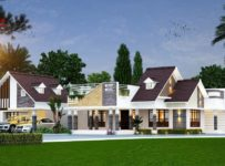 6025 Square Feet 2 Bedroom Luxury Single Floor Home Design
