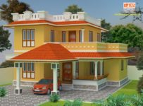 1170 Square Feet 3 Bedroom Kerala Style Double Floor Home Design at 3.5 Cent Plot