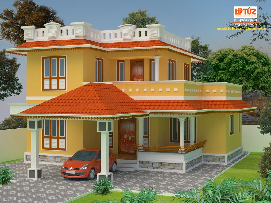 Photo of 1170 Square Feet 3 Bedroom Kerala Style Double Floor Home Design at 3.5 Cent Plot