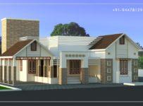 2200 Square Feet 3 Bedroom Single Floor Modern Home Design