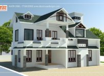 1857 Square Feet 3 Bedroom Modern Double Floor Home Design