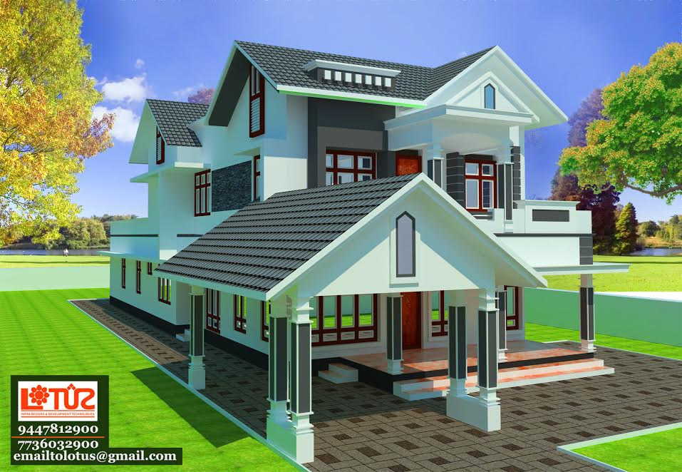 Photo of 2800 Square Feet 4 Bedroom Sloping Roof Modern Home Design
