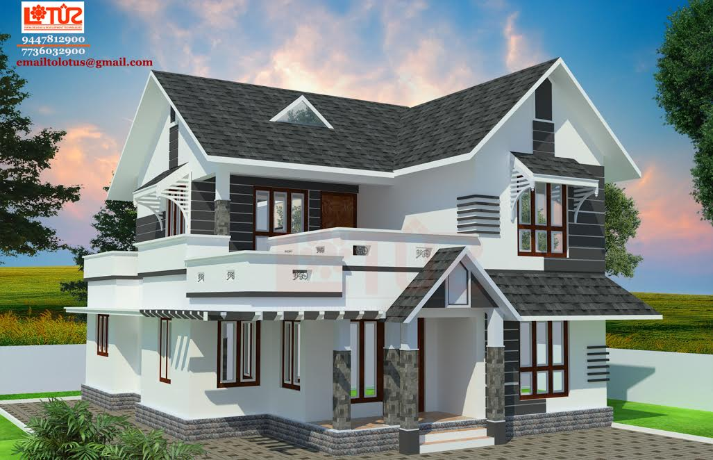 1600 square feet 3 bedroom double floor amazing home for Amazing house plans with pictures