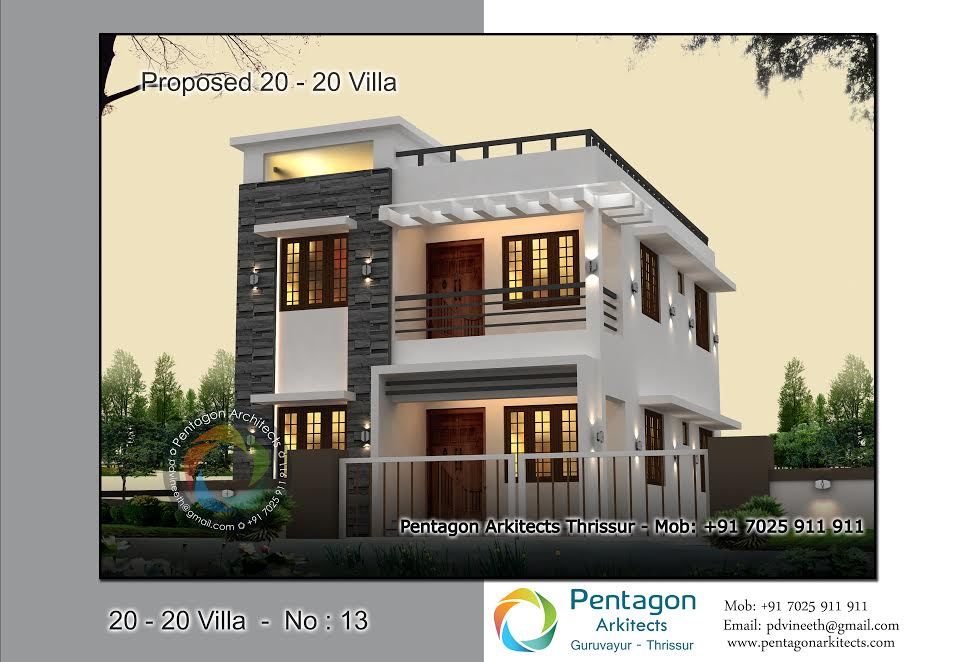 Photo of 1382 Square Feet 3 Bedroom Low Budget Contemporary Modern Home Design and Plan