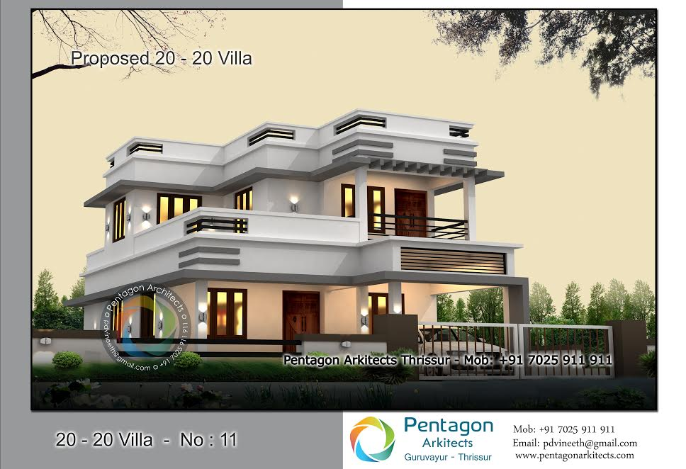 1959 Square Feet 4 Bedroom Luxury Modern Home Design and Plan