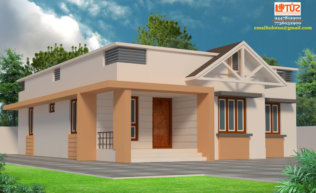 Photo of 1100 Square Feet 3 Bedroom Single Floor Low Budget Home Design For 17.5 Lacks