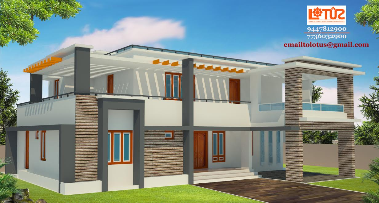 2723 Square Feet 4 Bedroom Luxury Contemporary Modern Home Design