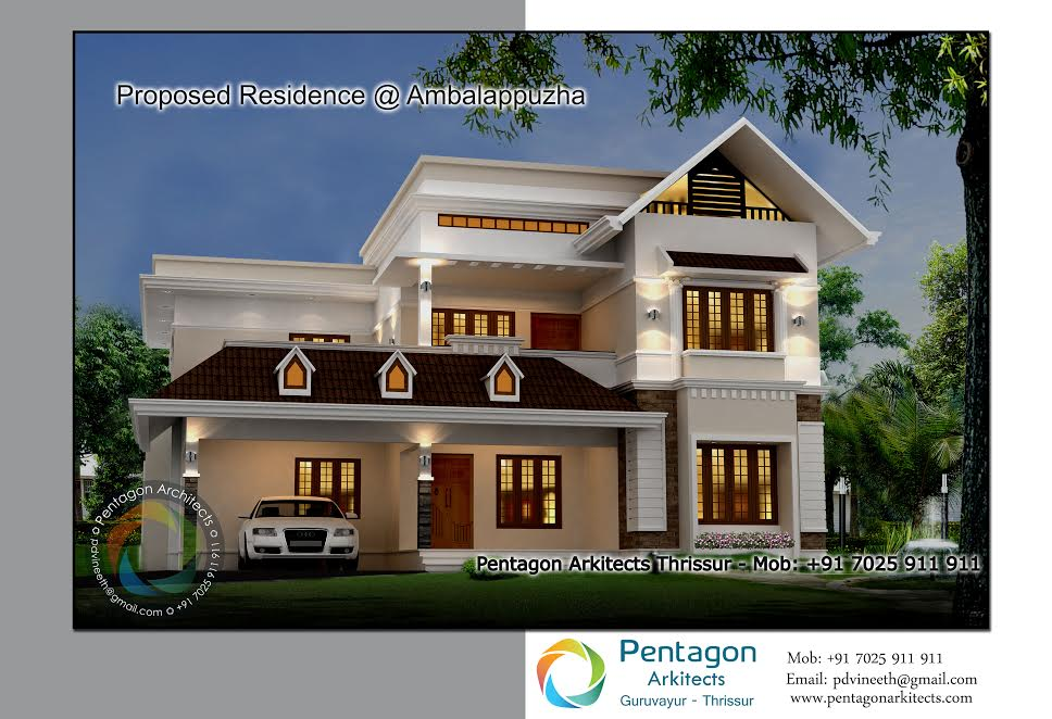 3049 Square Feet 4 Bedroom Modern Contemporary Home Design