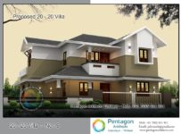 1974 Square Feet 3 Attached Bedroom Sloping Roof Modern Home Design and Plan