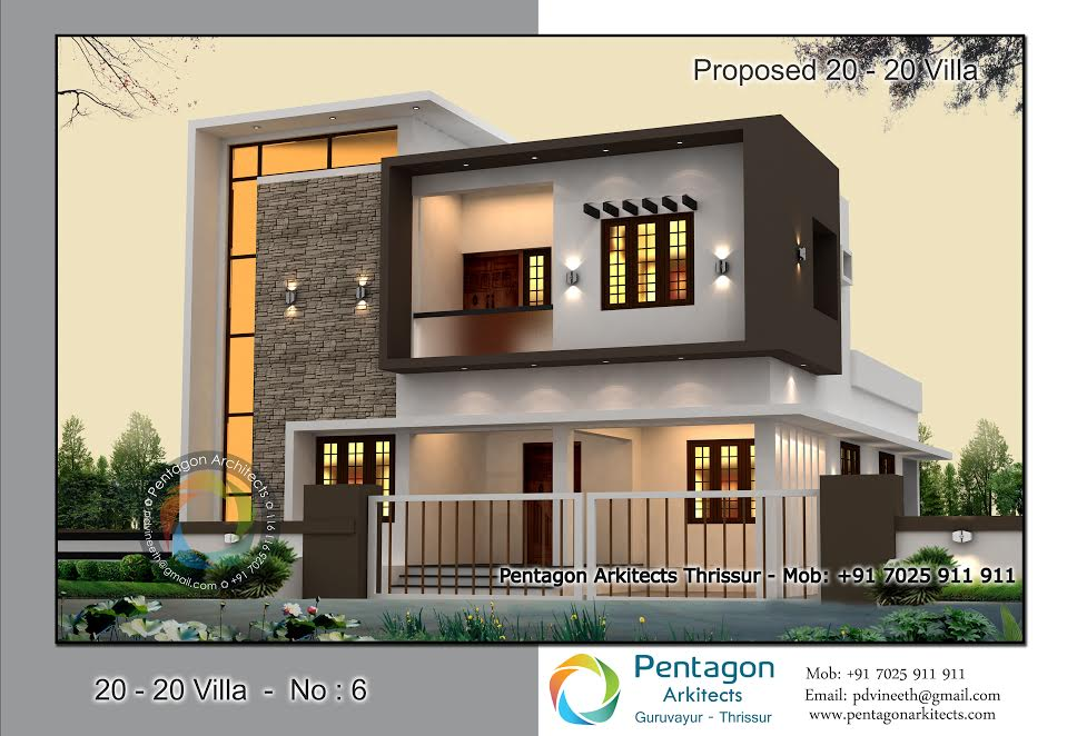 1914 Square Feet 2 Attached Bedroom Contemporary Style Home Design and Plan