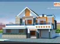 3120 Square Feet 4 Bedroom Double Floor Modern Home Design