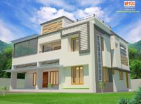 2453 Square Feet 4 Bedroom Contemporary Home Design At 7 Cent Plot