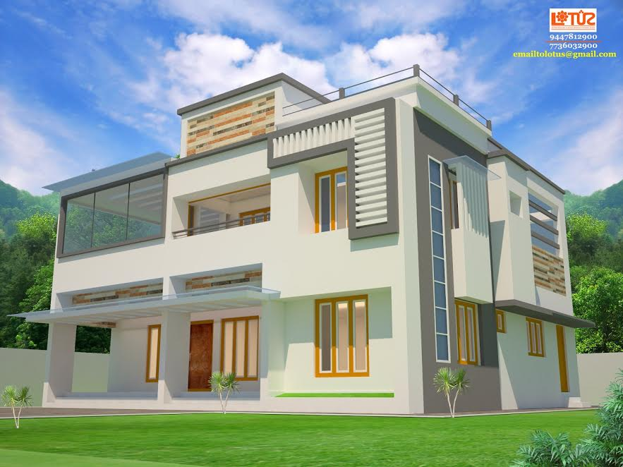 Photo of 2453 Square Feet 4 Bedroom Contemporary Home Design At 7 Cent Plot