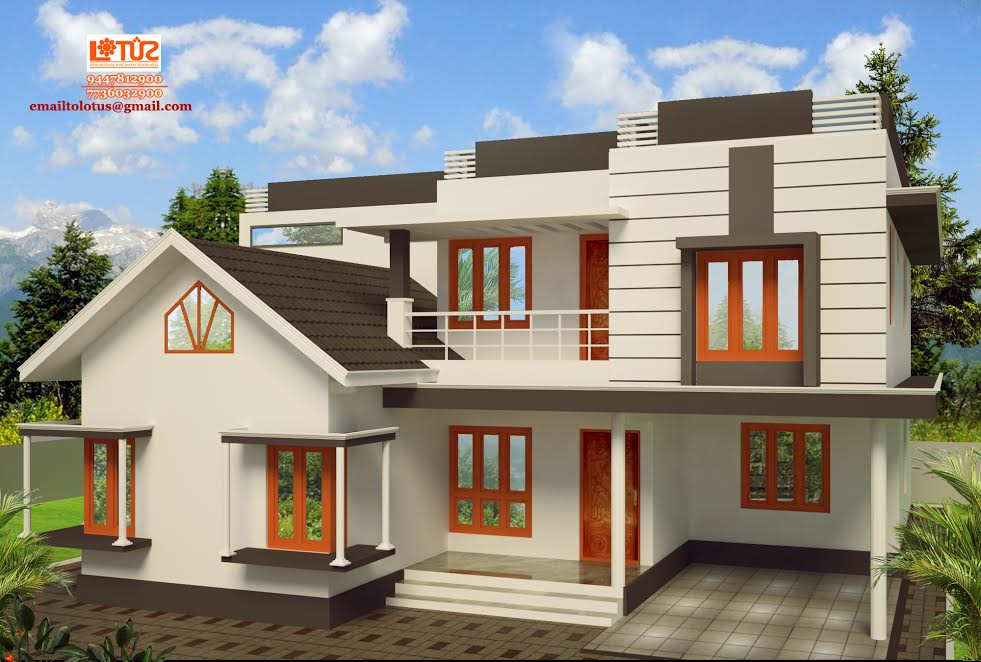Photo of 1900 Square Feet 4 Bedroom Simple Contemporary Home Design