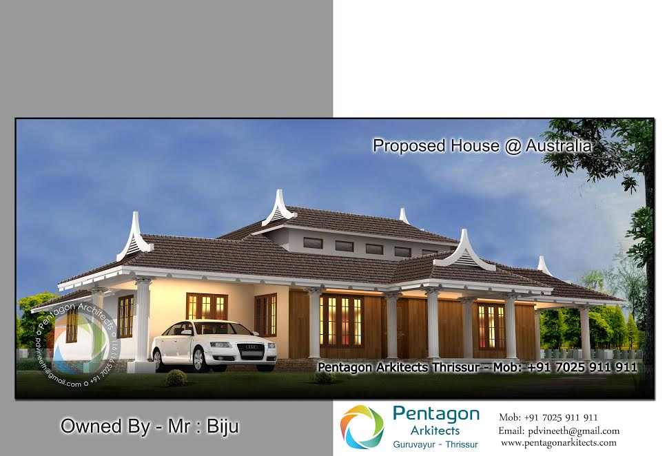 Photo of 2656 Square Feet 4 Attached Bedroom Single Floor Home Design and Plan