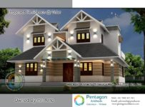 1864 Square Feet 3 Bedroom Modern Double Floor Home Design and Plan