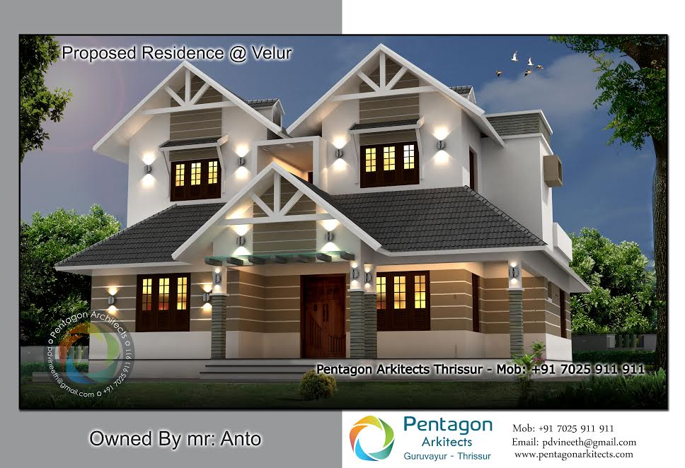 Photo of 1864 Square Feet 3 Bedroom Modern Double Floor Home Design and Plan