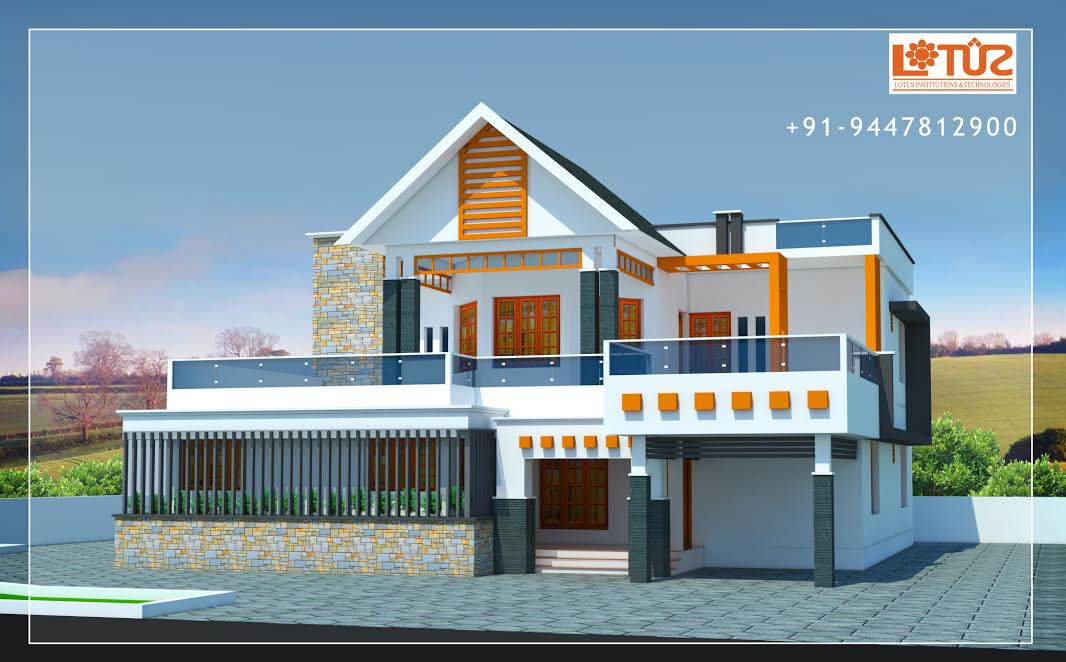 3120 Square Feet 4 Bedroom Double Floor Modern Home Design