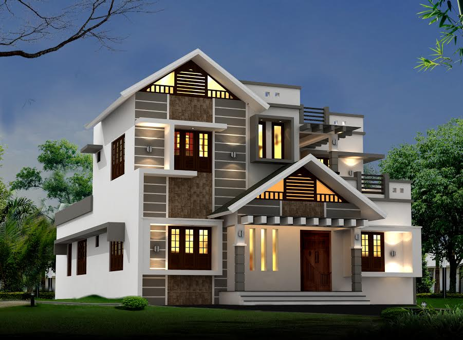2170 Square Feet 3 Bedroom Modern Double Floor Home Design and Plan