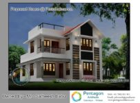 2222 Square Feet 4 Bedroom Double Floor Modern Home Design and Plan