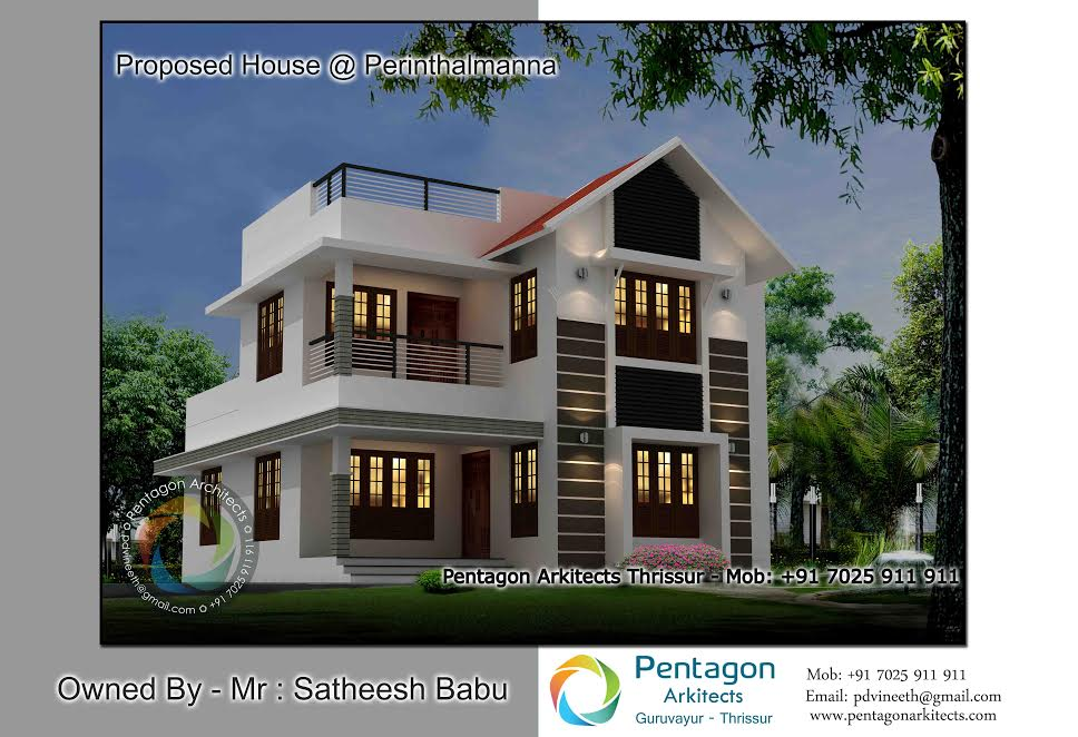 Photo of 2222 Square Feet 4 Bedroom Double Floor Modern Home Design and Plan