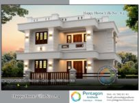 1377 Square Feet 3 Bedroom Contemporary Modern Double Floor Home Design and Plan