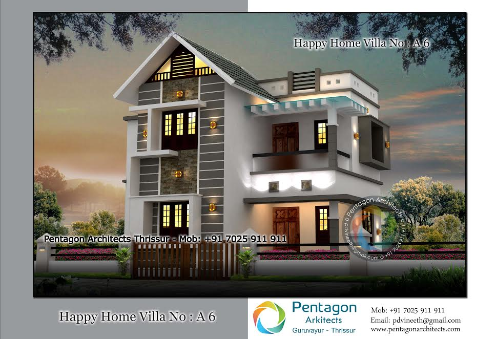 1440 Square Feet 3 Bedroom Low Budget Home Design and Plan