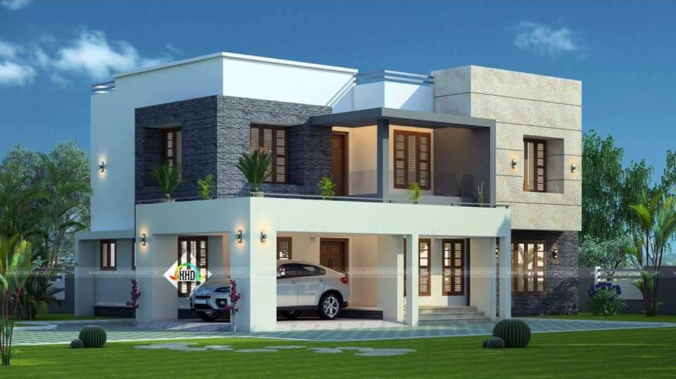 2183 Square Feet 4 Bedroom Contemporary Style Home Design and Plan