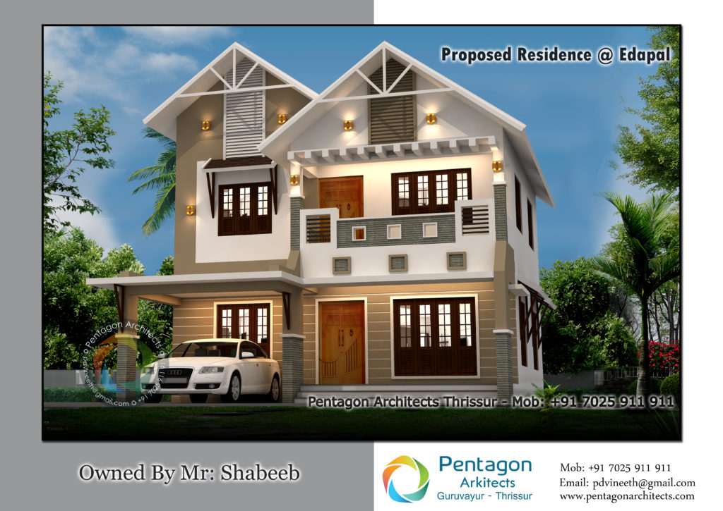 1770 Square Feet 3 Bedroom Double Floor Modern Home Design and Plan