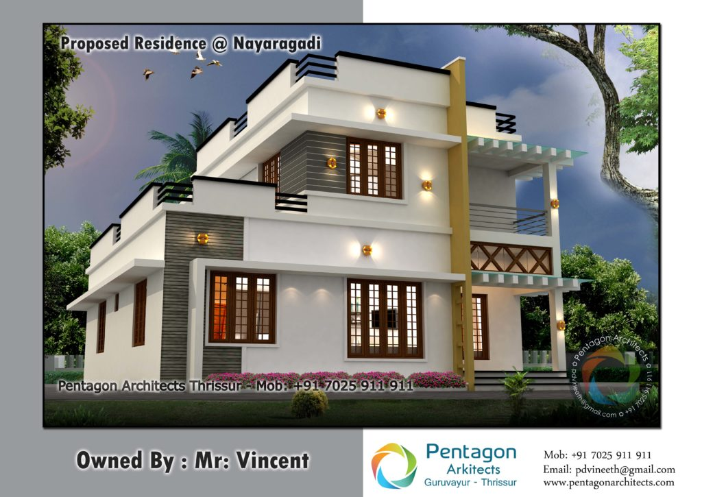 1709 Square Feet 3 Bedroom Double Floor Modern Home Design and Plan