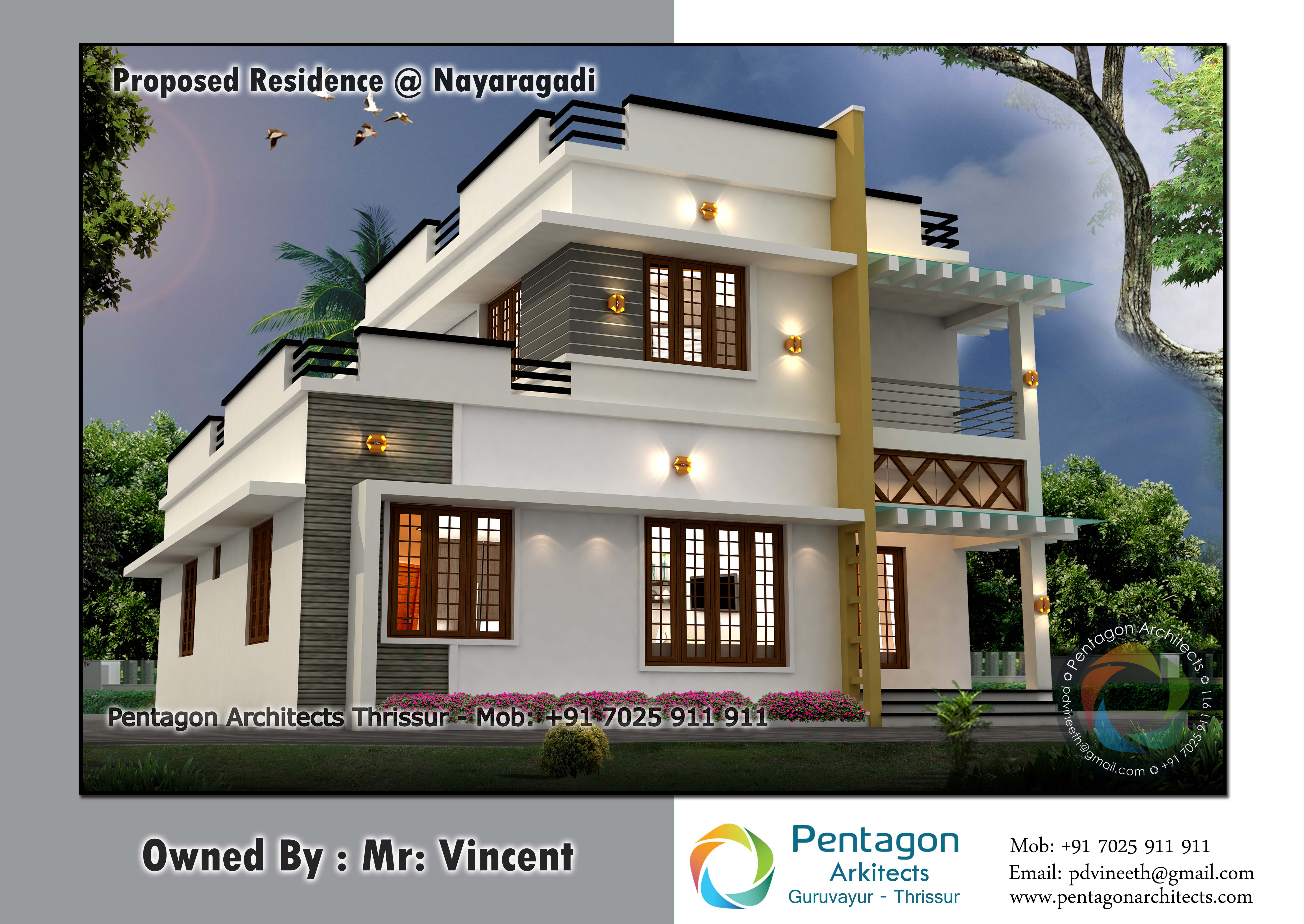 Photo of 1709 Square Feet 3 Bedroom Double Floor Modern Home Design and Plan