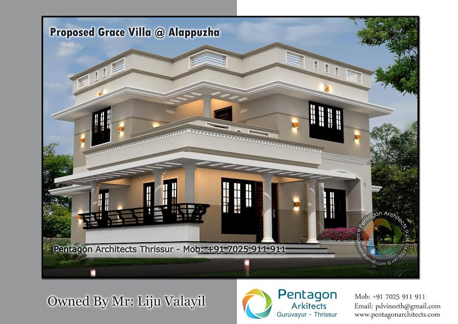 Photo of 1619 Square Feet 3 Bedroom Double Floor Contemporary Home Design and Plan