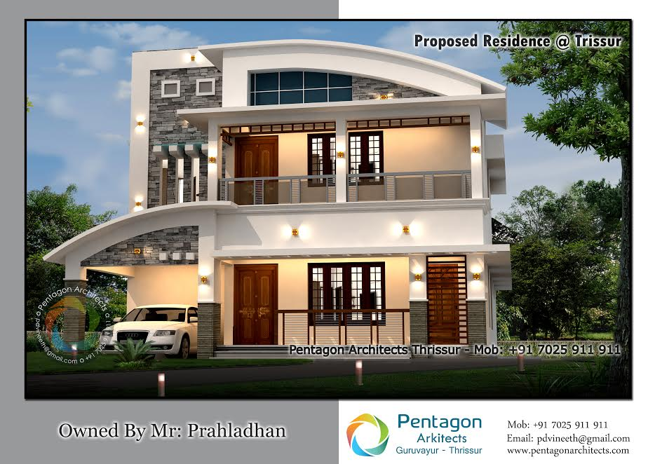 2602 Square Feet 4 Bedroom Double Floor Modern Home Design and Plan