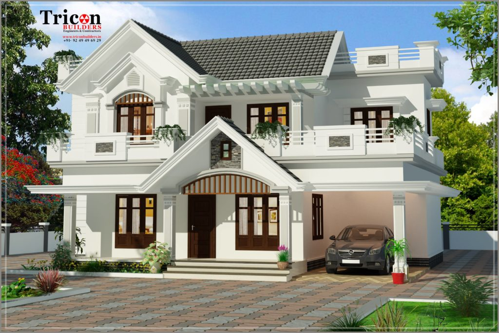 2200 Square Feet - 4 Bedroom Beautiful Budget Villa