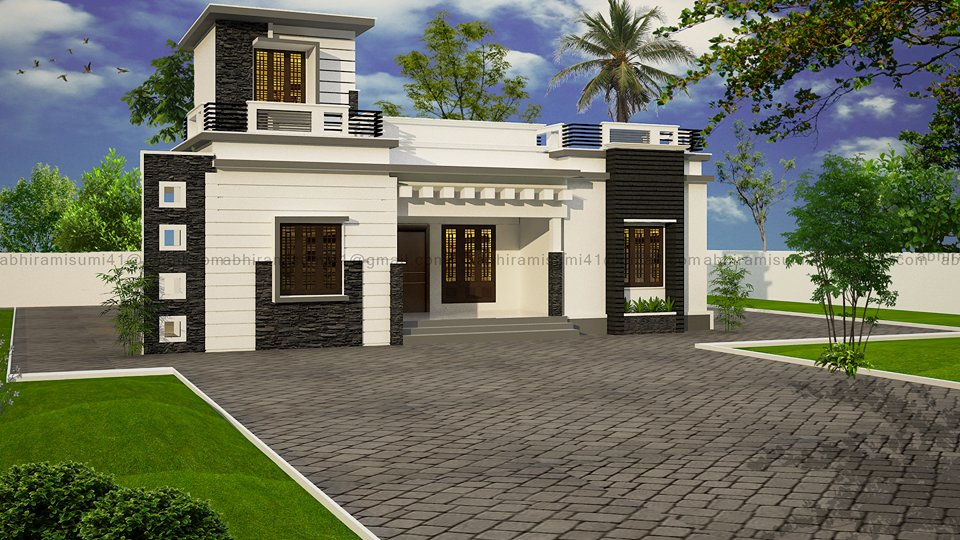 1170 Square Feet 3 Bedroom Single Floor Low Cost Home Design