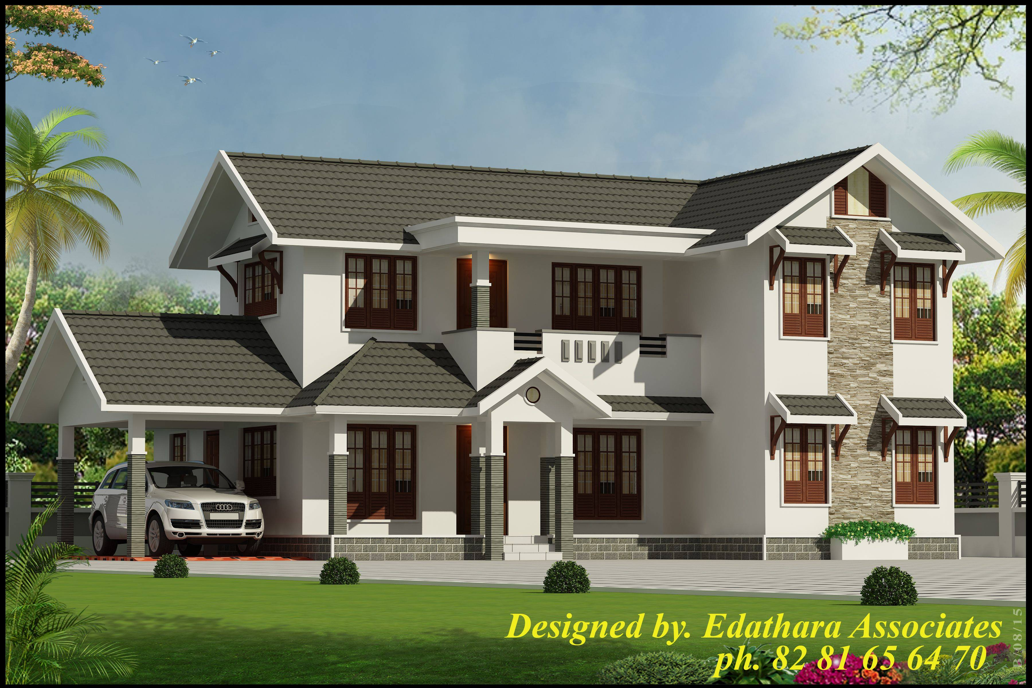 Photo of 2722 Sq Ft, Modern, Double Floor Kerala Home