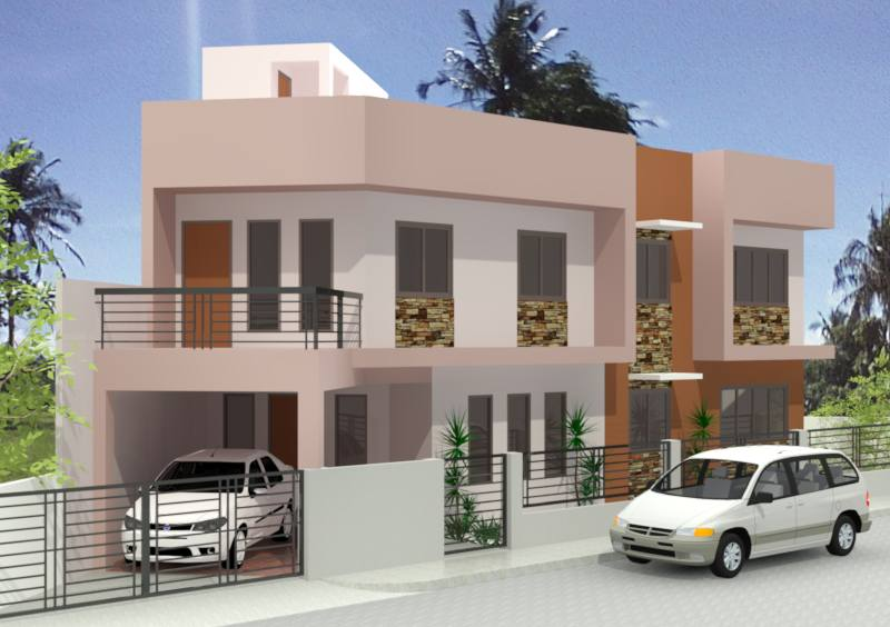 Photo of Two Storey Residential House Design &Free plan