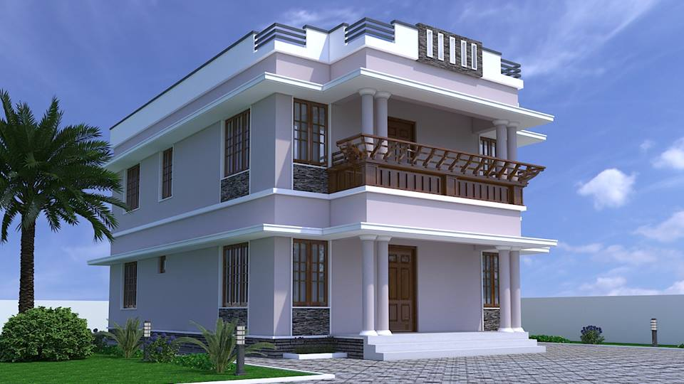 Photo of 1800 sq.ft Kerala  House Design and plan