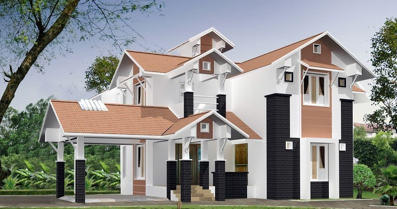 Photo of 4  Bedroom  2800sq.ft  Kerala Home Design plan free