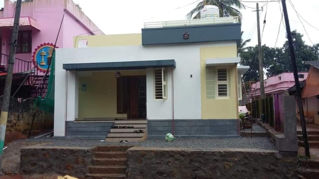 Photo of 1100 Square Feet 2 Bedroom Single Floor Flat Roof Modern House and Plan