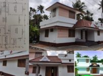 1100 Square Feet 2 Bedroom Single Floor Low Budget House and Plan