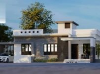1160 Square Feet 2 Bhk Contemporary Style Single Floor House and Plan