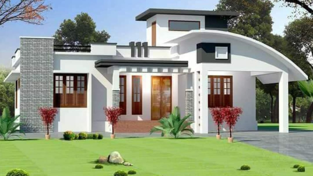Photo of 1212 Square Feet 4 Bedroom Modern Single Floor House and Plan