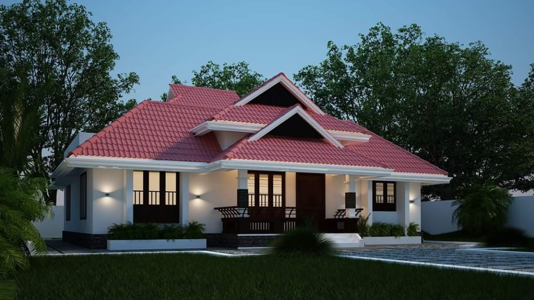 Photo of 1466 Square Feet 3 Bedroom Traditional Style Beautiful House and Plan