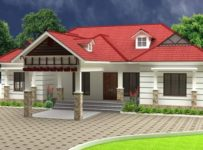 1500 Square Feet 3 Bedroom Traditional Kerala Style House and Plan