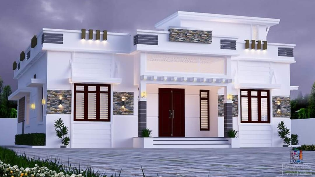 Photo of 1500 Square Feet 4 Bedroom Modern and Beautiful Single Floor House