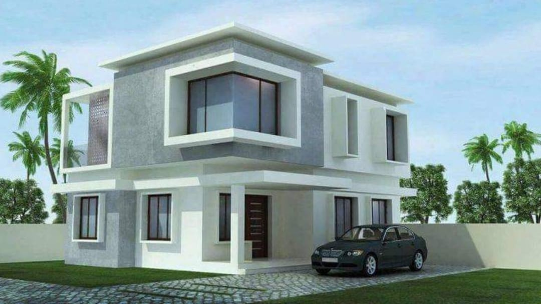 Photo of 1540 Square Feet 3 Bedroom Contemporary Style Flat Roof Modern House and Plan
