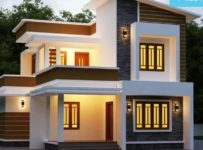 1671 Square Feet 3 Bedroom Contemporary Style House and Plan